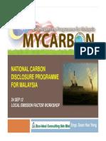 National Carbon Disclosure