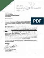 Formato de Carta de Agradecimiento Al Ministro