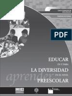 Educar en La Diversidad en Preescolar