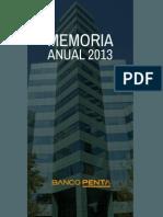 Memoria Banco Penta 2013