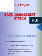 Bank Mangement C++ project PPT
