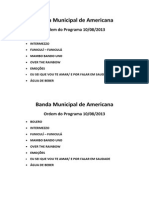Ordem Do Programa