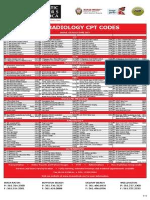 Dca Cpt Codes | Vertebral Column | Mammography