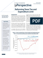 Reforming Texas Tax Expenditure Limit