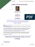 Lifework of Quantum Physicist David Bohm by Will Keepin