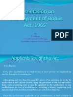 Presentation on Payment of Bonus Act, 1965