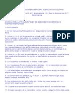 Normas Para La Transcripción de Documentos Históricos Hispanoamericanos