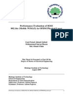Performance Evaluation of IEEE 802.16e(Mobile WiMAX) in OFDM Physical Layer