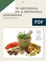 Sutras of Ashthanga Hrydayam Ashthanga Sangraha