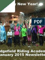 Ridgefield Riding Academy January 2015 Newsletter