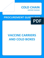 Vaccine Carriers and Cold Boxes