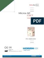 Horiba ABX Micros 60 CS-CT - User Manual