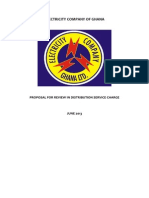 Tariff Proposal for 2013 ECG