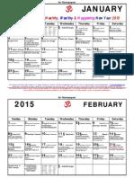 Traditional Calendar 2015 from the Agaramangudi Jayaramans
