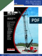 Link Belt HC278 Product Guide