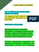Aplicarea Legii Penale Romane in Spatiu