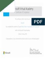 Certificate - VS2013