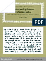 Tayeb El-Hibri Reinterpreting Islamic Historiography- Harun Al-Rashid and the Narrative of the Abbasid Caliphate (Cambridge Studies in Islamic Civilization) 1999