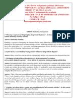 MB0046-Marketing Management Winter 2014
