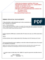 Mb0045- Financial Management Winter 2014