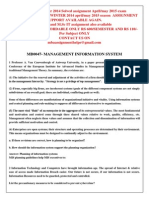 Mb0047- Management Information System Winter 2014