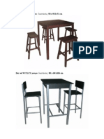 Bar Stool Set PUB βεγκε