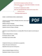 Mu0010 – Manpower Planning & Resourcing Winter 2014
