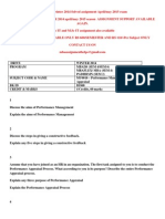 MU0016 – Performance Management and Appraisal WINTER 2014