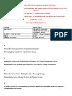 MU0018 – Change Management WINTER 2014