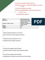 Om0018– Technology Management Winter 2014