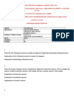 Ma0042 Treasury Management Winter 2014