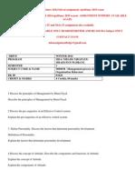 MB0038 –Management Process & Organization Behaviou