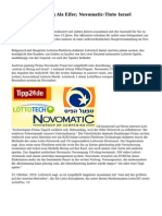 Tipp24 Rebranding Als Eifer; Novomatic-Tinte Israel Lotterie Angebot