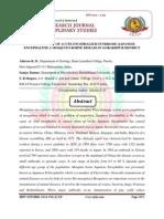 EPIDEMIOLOGY OF ACUTE ENCEPHALITIS SYNDROME /JAPANESE ENCEPHALITIS A MOSQUITO-BORNE DISEASE IN GORAKHPUR DISTRICT