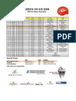 2008 GOI Schedule