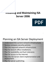Installing and Maintaining Isa Server 2006