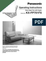 Fax Manual Fp701fx