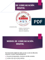 Modos de Comunicación Digital