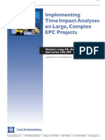 Long Intl Implementing TIA Analyses on Large Complex EPC Projects