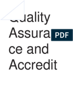 Quality Assurance and Accreditation in Higher Education