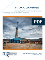 Frackings Toxic Loophole
