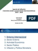 Reporte de Inflacion Octubre 2014 Presentacion