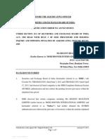 Adjudication order against Regent Realtech Ltd (Formerly Known as Modi Hoover International Ltd.)