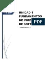 Fund. Ing Software (Trabajo en Equipo) 11 de Septiembre Del 2014