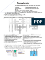 Thermochemistry Worksheet,Related to...