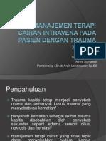Manajemen Terapi Cairan Intravena Pada Pasien Dengan Trauma