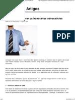 5 Dicas Para Cobrar Os Honorários Advocatícios _ Artigos JusBrasil