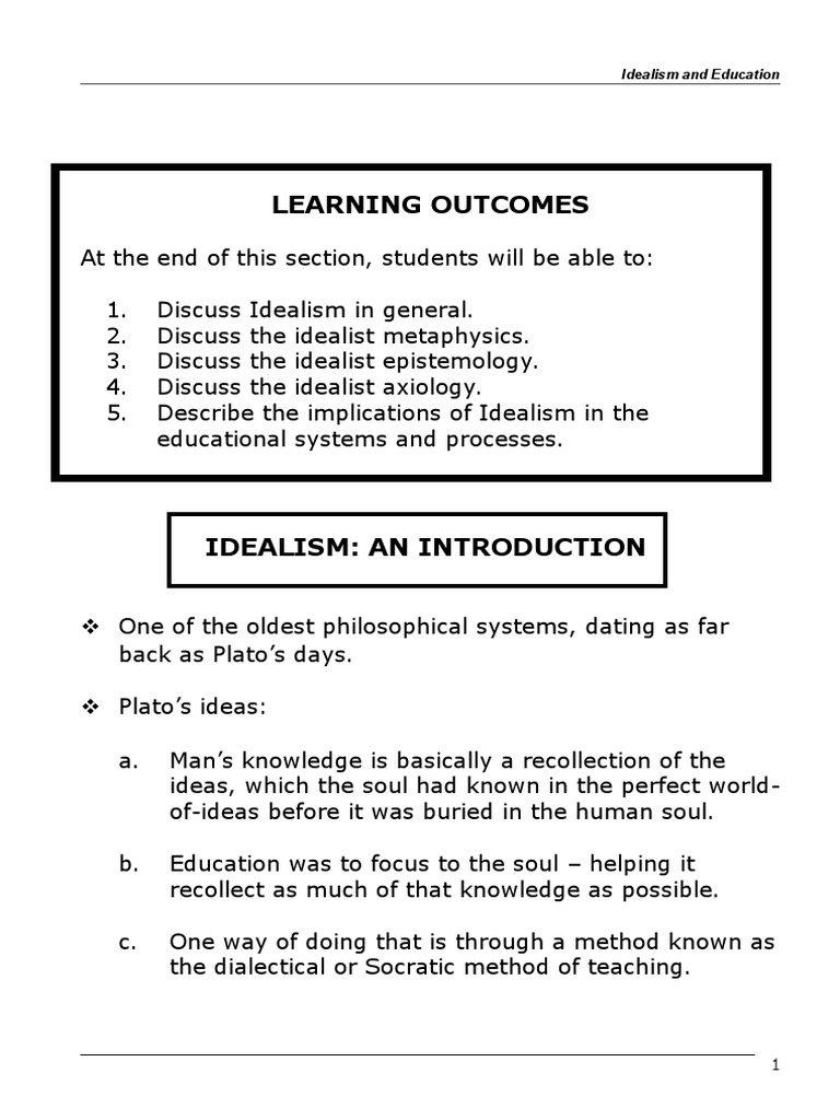 educational implication of idealism
