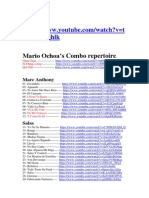 Mario Ochoa's Combo Repertoire