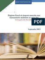 Livre 1 Regime Fiscal Et Risques Associes Aux Transactions Realisees Au Sein Des Groupes de Societes